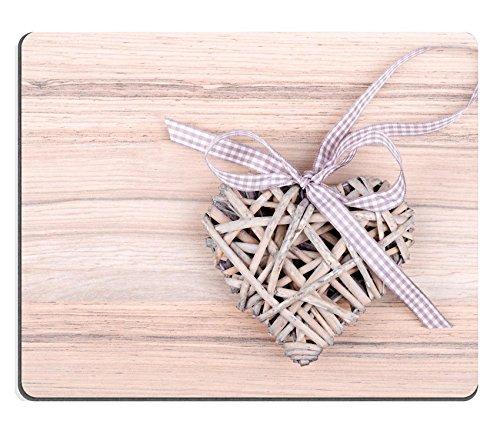 MSD Caucho Natural Gaming Mousepad imagen ID 36432970San Valentín S de madera en forma de corazón sobre fondo de madera s Día de San Valentín Día San Valentín postal con espacio para texto