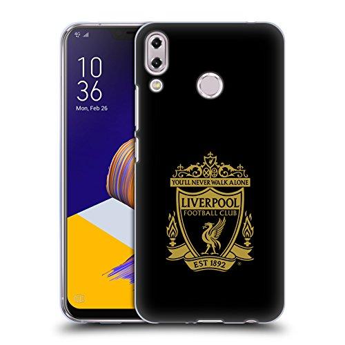 Head Case Designs Oficial Liverpool Football Club Negro 3 Cresta 1 Carcasa de Gel de Silicona Compatible con ASUS Zenfone 5z ZS620KL / 5 ZE620KL