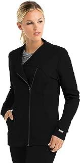 Grey's Anatomy Impact Zipper Jacket for Women - Easy Care Medical Scrub Jacket