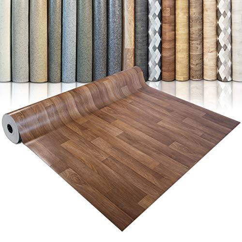 CV Bodenbelag Golden Oak - extra abriebfester PVC Bodenbelag (geschäumt) - Eiche Gold - edle Holzoptik - Oberfläche strukturiert - Meterware (100x200 cm)