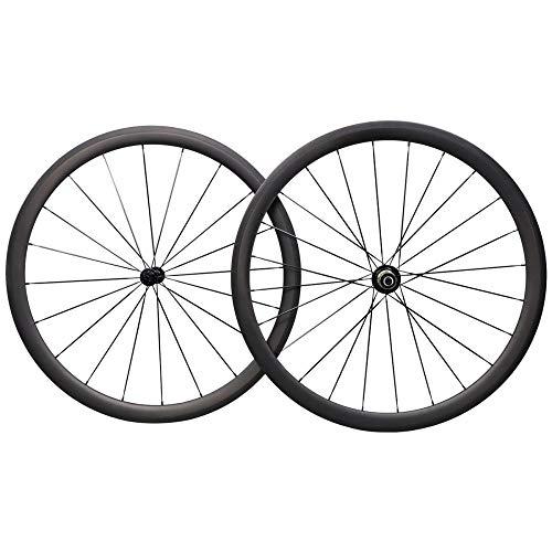 LIMQ Rennrad Rad 700C 38mm Carbon Rennrad Drahtreifen Shimano 10/11 Geschwindigkeiten Nur 1470g