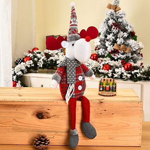 Qchomee Natale bambola ornamenti fatti a mano peluche...