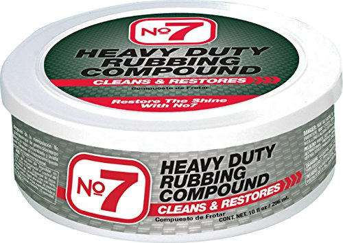 No.7 Heavy Duty Rubbing Compound - 10 Fl Oz - Cleans and Restores - Removes Deep Scratches and Stains - Restores Shine to Dull Finishes
