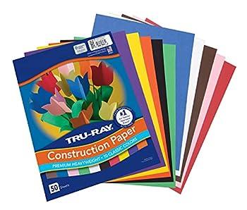Tru-Ray Construction Paper 10 Classic Colors 9  x 12  50 Sheets