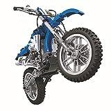 Technik Bausteine Motorrad Motocross Bike Konstruktionsspielzeug mit funktionierendem Getriebe, 474 Teile