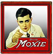 Emmett Holmes Tin Vintage Metal Sign Drink Moxie Man Garage for Men Home Decor Poster House Rules Wall Art Decor 8X12 inch