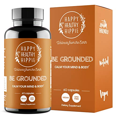 BE Grounded Stress Relief Supplement – Calm Down Now with Happy Healthy Hippie Plant-Based All-Natural Lavender Extract Anti-Anxiety Pills Support – Fast Acting & 100% Vegan – Non-GMO, 60 Pills