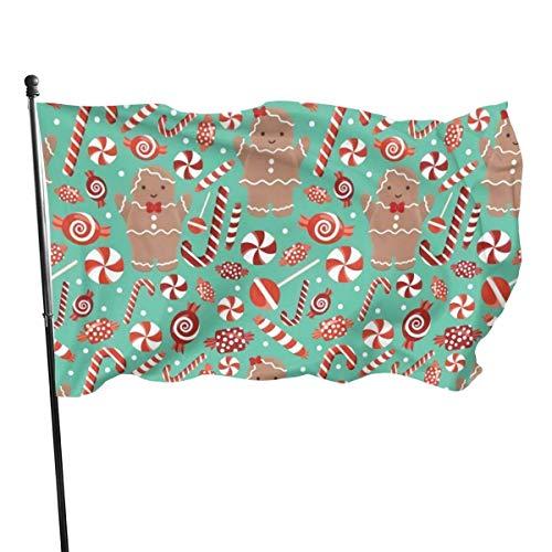 Kleurrijke banner peperkoek banner kerst binnendecoratie