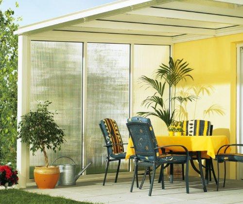Beckmann Seitenwand Links für Terrassen-Überdachung Gr. 13-16 weiß