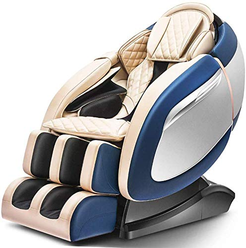 Relaxbx Super Luxus Raumkapsel Schwerelosigkeit Massagesessel Elektrische Automatische Halswirbelsäule, Geeignet Für Nacken, Taille, Hüften, Beine, Rücken, Füße, Blau