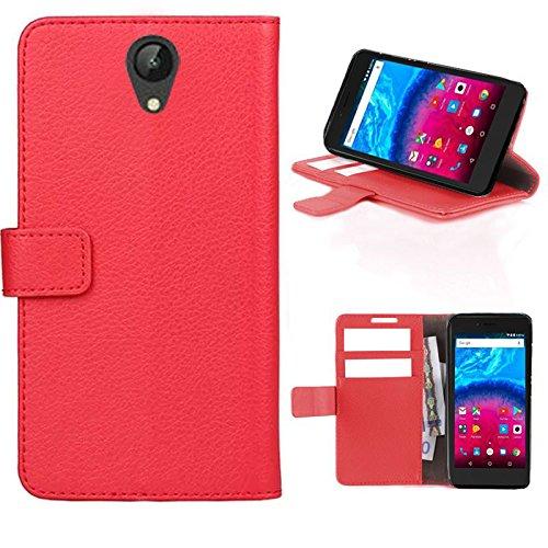 starz mobiles accessoires ARCHOS Core 50 - Tasche Gummi TPU Schutz Handytasche (Folio Red)