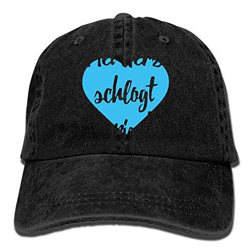Wasuphand Custom MEI Herz Schlogt Boarisch Bayrischer Spruch Classic Cotton Adjustable Baseball Cap, Dad Trucker Snapback Hat