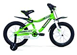 Bicicletta Bambino 4-7 Anni KAWASAKI KBX 14 con Parafango Moto