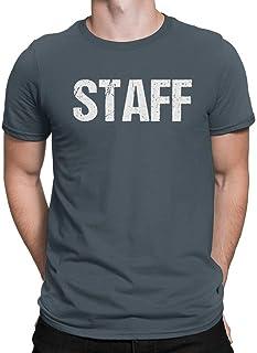 تي شيرت فريق العمل الرسمي نيون ستاف من NYC FACTORY تي شيرت رجالي أصفر اللون