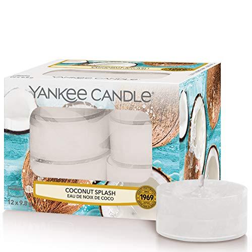 Yankee Candle candeline profumate tea light | Latte di cocco | 12 pezzi