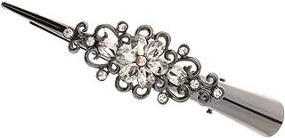 B Baosity Pinze Coccodrillo Con Diamanti Artificiali Gioielli Vintage Accessorio Donna Per Regalo Natale - Bianca, 12.5 x ...