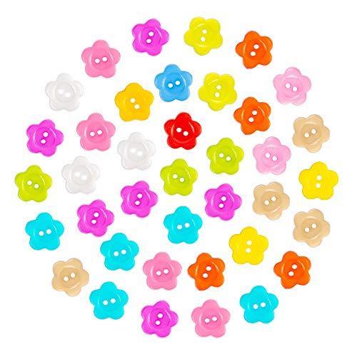 100x Chytaii Boutons Ronds de V/êtement Accessoires D/écoration de Couture DIY en Plastique Multicolore avec 4 Trous /à Coudre