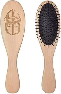 'Medieval Helmet' Wooden Hairbrush (HA00028033)