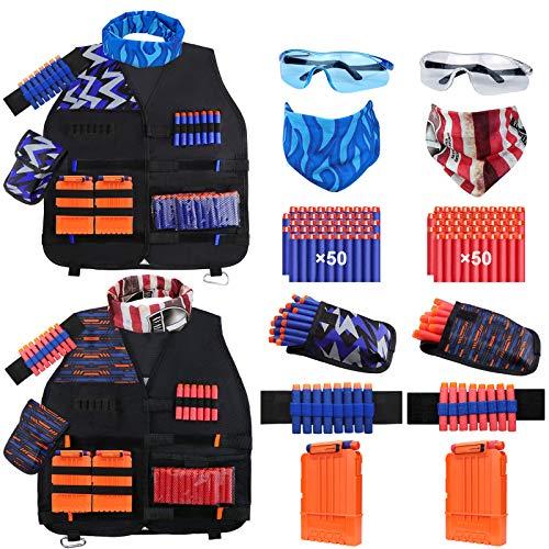 Tactical Vest Kit 2-Pack for Nerf Guns N-Strike Elite Series...