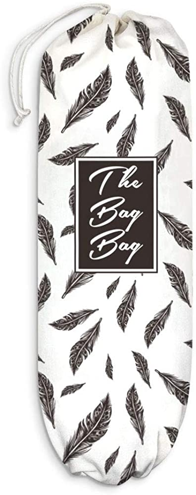 Feathers Leaves Plastic Bag Holder Grocery Shopping Carrier Super sale Max 63% OFF period limited Bags