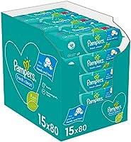 Pampers Fresh Clean Billendoekjes, 1200 Babydoekjes, met Frisse Geur, Ook Voor Handen en Gezicht, Dermatologisch Getest...