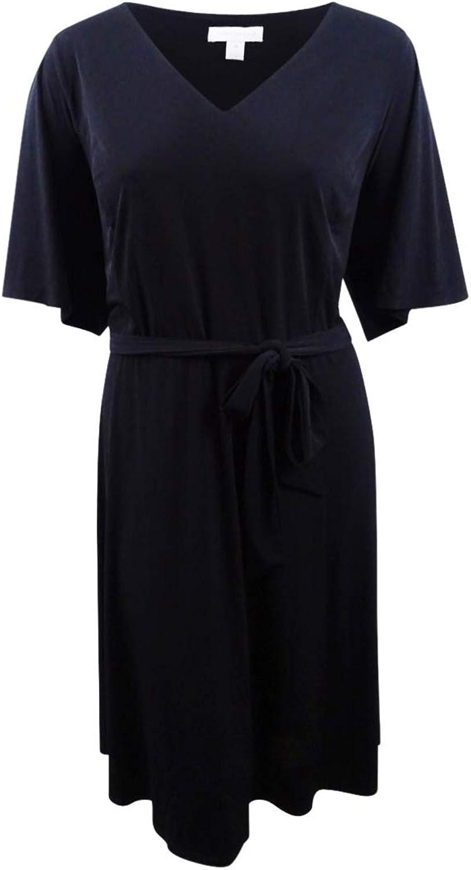 Charter Club Womens Plus Short Sleeves KneeLength Midi Dress