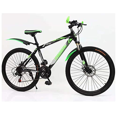 YUANP Bicicleta De Montaña De 26 Pulgadas MTB Adecuada Desde 150 Cm Cambio De Marchas Shimano De 21 Velocidades Suspensión De Horquilla,B