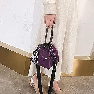 HAWEEL Anti-Theft Classic Retro Messenger Travel Cone Shaped Clear Single Shoulder Bag Ladies Handbag Messenger Bag (Green) Sling Crossbody Mini Purse One Size