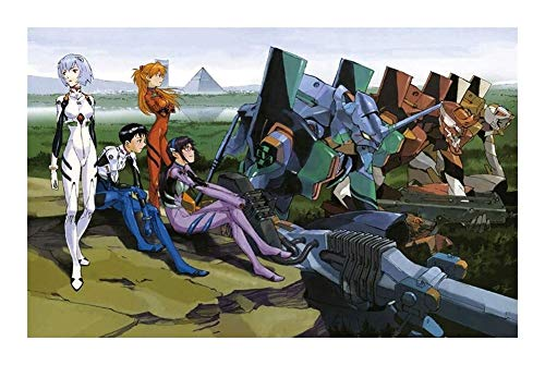 JAZC Puzzles Evangelion 300/500/1000/1500 Pieza de Madera Rompecabezas de Dibujos Animados Rompecabezas (Color : F, Size : 1500P)