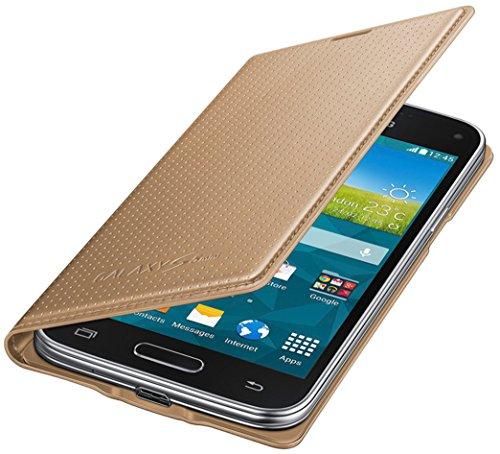 Samsung Flip Wallet Hülle Case Cover für Samsung Galaxy S5 Mini Punching Pattern - Gold