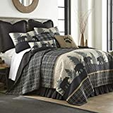 King Quilt - Bear Walk Plaid by Donna Sharp - Lodge Quilt with Bear...