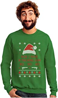 Now I Have a Machine Gun Ho-Ho-Ho Ugly Christmas Sweater Sweatshirt