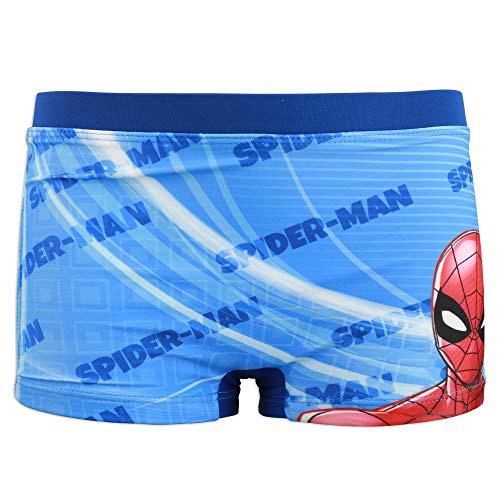 Marvel Avengers Spiderman - Costume da Bagno Pantaloncino Boxer Mare Piscina - Bambino - Prodotto Originale con Licenza Ufficiale [1705 Blu Royal - 4 A - 104 cm]