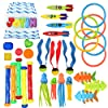 30個 ダイビングプールおもちゃ ジャンボセット 収納バッグ付き ダイビングスティック (5) ダイビングリング (6) パイレーツの宝物 (4) Toypedo Bandits、(3) ダイビングおもちゃボール (3) 魚のおもちゃ (4) ストリンジオクトパス