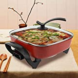 AYNEFY Electric Hot Pot, 1360W 5 Litre Electric Pot Multifunctional Non-stick Electric Cooker Hot Pot for Home Party, UK Plug 220V