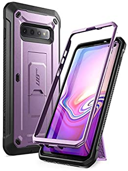 SUPCASE Unicorn Beetle Pro Series Designed for Samsung Galaxy S10 Plus Case  2019 Release  Full-Body Dual Layer Rugged with Holster & Kickstand Without Built-in Screen Protector  Purple