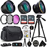 58mm Professional 3 Lens Accessory Kit for Canon EOS Rebel T7i T7 T6i T6S T6 T5i T5 T3i EOS 80D 77D 70D 60D EOS 9000D 8000D 800D 760D 750D 700D 650D 1300D 1200D 5D Mark III 5D Mark ii 6D 7D Mark ii