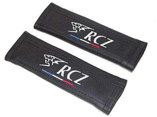 2x Sicherheitsgurt Armlehne Schultern Covers Black Leder
