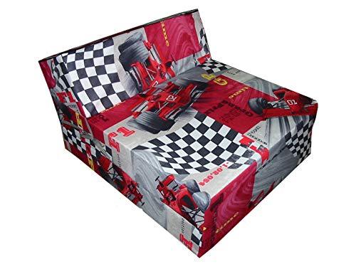 Natalia Spzoo Colchón Plegable Cama de Invitados colchón de Espuma 160 x 60 x 12 cm (cars)