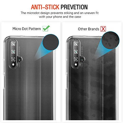 ivoler Hülle für Huawei Nova 5T / Honor 20 + 3 Stück Panzerglas, Durchsichtig Handyhülle Transparent Silikon TPU Schutzhülle Case mit Hartglas Schutzfolie Glas für Huawei Nova 5T / Honor 20 - 5