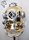 Indien, Seefahrt, Vintage, US-Marine-Mark, V-Taucher-Helm, Antik-Optik, Taucher-Helm