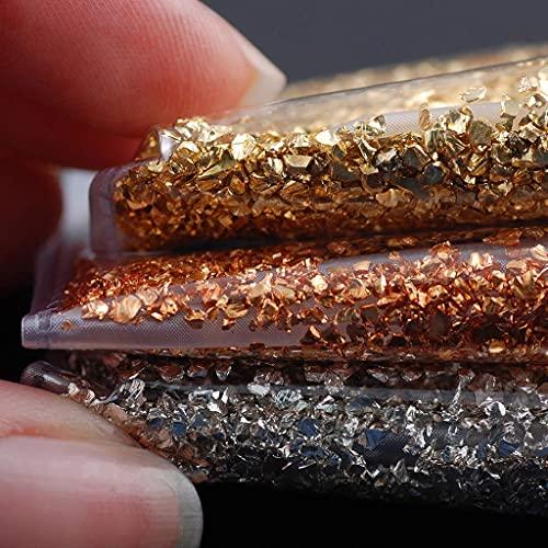 SKYVII Llenadores de resina a granel de piedras rotas de cristal 50G rellenos de moldes de joyería de resina epoxi