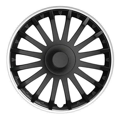 14pulgadas tapacubos Crystal So (Negro–Borde en plata). Tapacubos apto para casi todos los VW Volkswagen