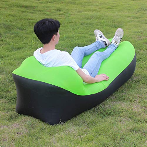 KUYH Bolsa de sofá inflable al aire libre, cama individual para el almuerzo, cojín de aire portátil, reclinable perezoso, 240 x 70 cm