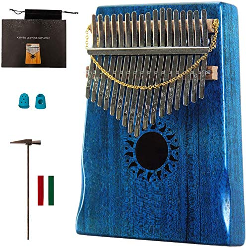 17-Tasten-Daumenpiano, akustisches Mahagoni-Fingerpiano mit hoher Klangqualität, geeignet für Geschenke