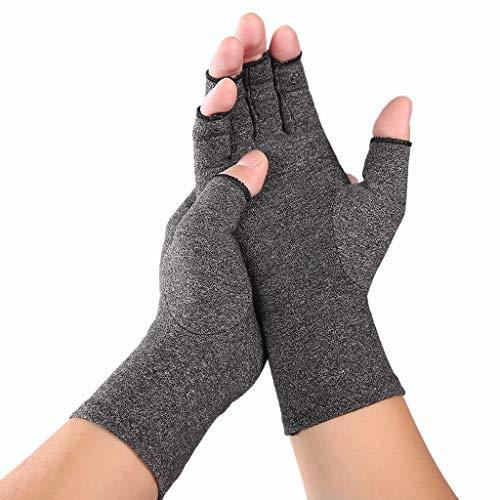 VIccoo Handschuhe, Frauen Männer Arthritis Kompressionshandschuhe Fingerlose Gelenkschmerzen Linderung Rheumatoide Arthrose Hand Handgelenk Unterstützung Therapie Fäustlinge - M
