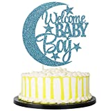 PALASASA Welcome Baby Boy Cake Topper - Baby Shower or Newborn Gender...
