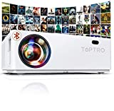 "Proyector Bluetooth 1080P, TOPTRO 7200 LM Proyector Full HD 1920x1080 Soporta 4K , Proyectores Cine en Casa LED 100,000 Horas, Pantalla Gigante 350"", Zoom X/Y, para TV Stick, PS4,"