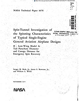 Spin-tunnel investigation of the spinning characteristics of ...