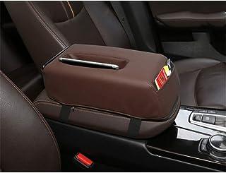 Car Armrest Cushion, Auto Center Console Armrest Pillow, Memory Foam Car Armrest Cushion with Phone Holder Storage Bag Uni...